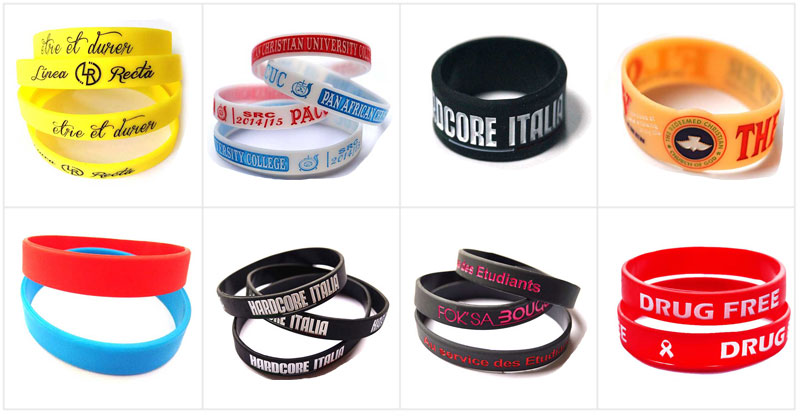 Wholesale Enamel Silicone Wristband for Sports (LM1681)