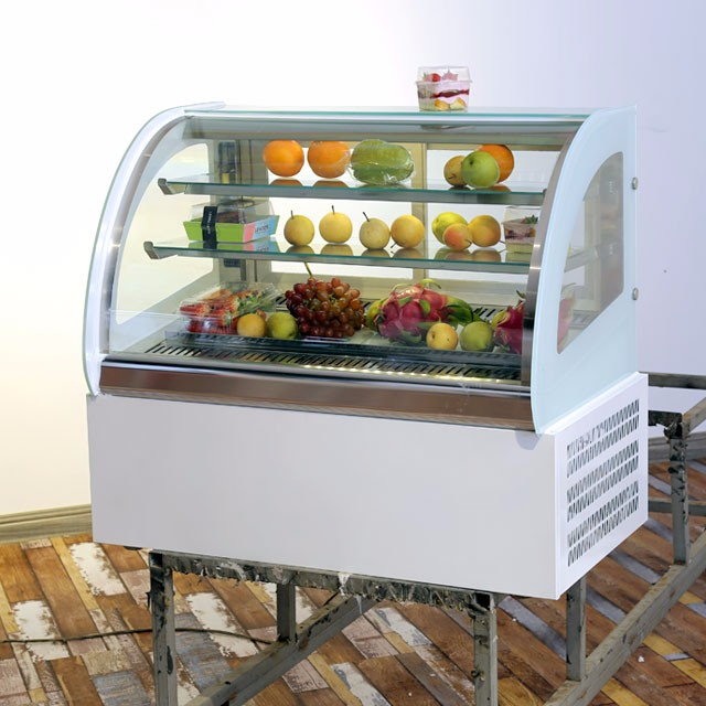 fruits display refrigerator showcase