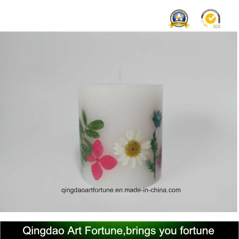 Dry Flower Inclusion Candle--Hand Pour-Medium Size