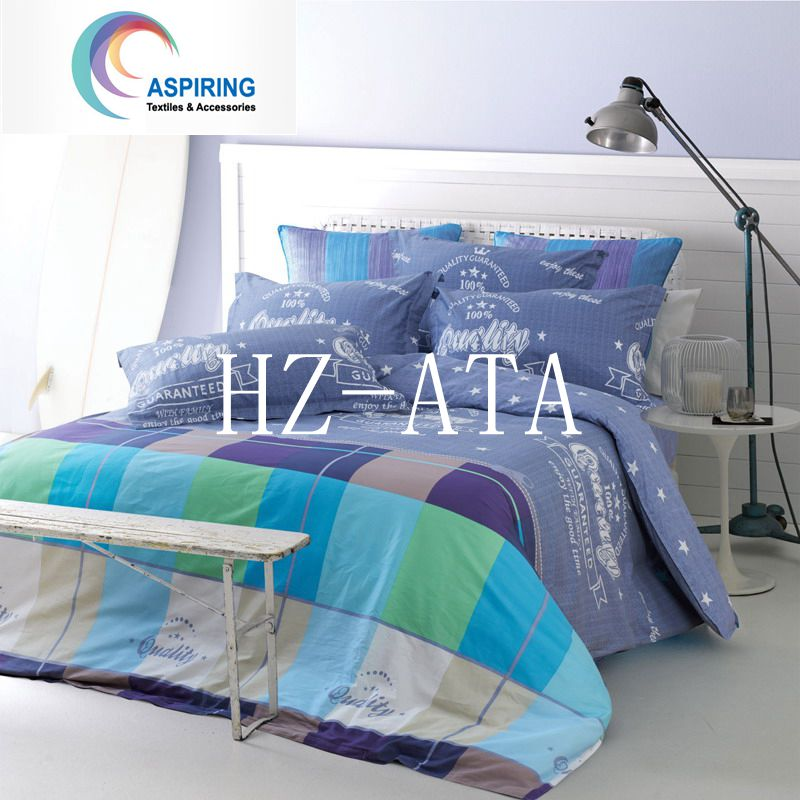 3D 4PCS Bright Colorful Bedding Set Reactive Printed Bed Sheet