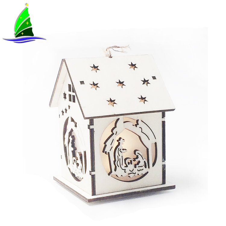 Led Light Wood house decoration