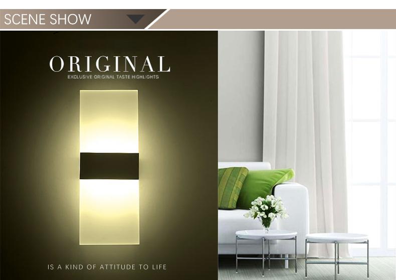 Free Sample Indoor Bedroom Hotel LED Modern Wall Lamp