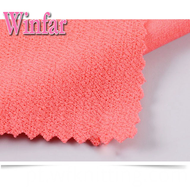 Solifd Color Polyester Knit Fabric