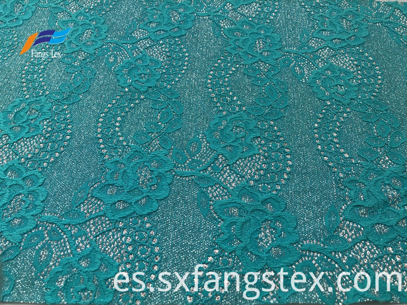 Fancy Jacquard Nylon Polyester Embroidered Lace Fabric 1