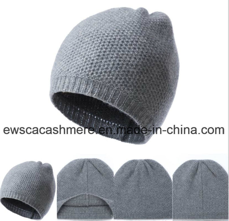 Men's Solid Color Top Grade Pure Cashmere Hat A16mA1-001