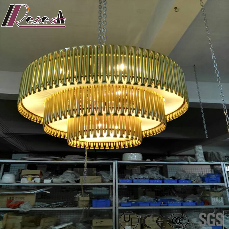 Modern and Luxury Gold Round Pendant Lighting with Hotel