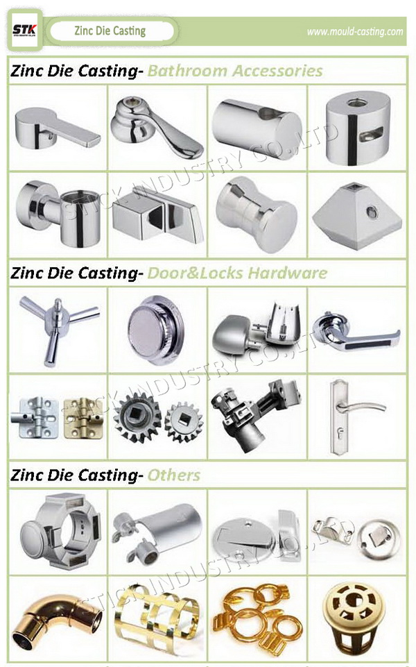 Zinc Alloy Die Casting Bathroom Shower Head Parts