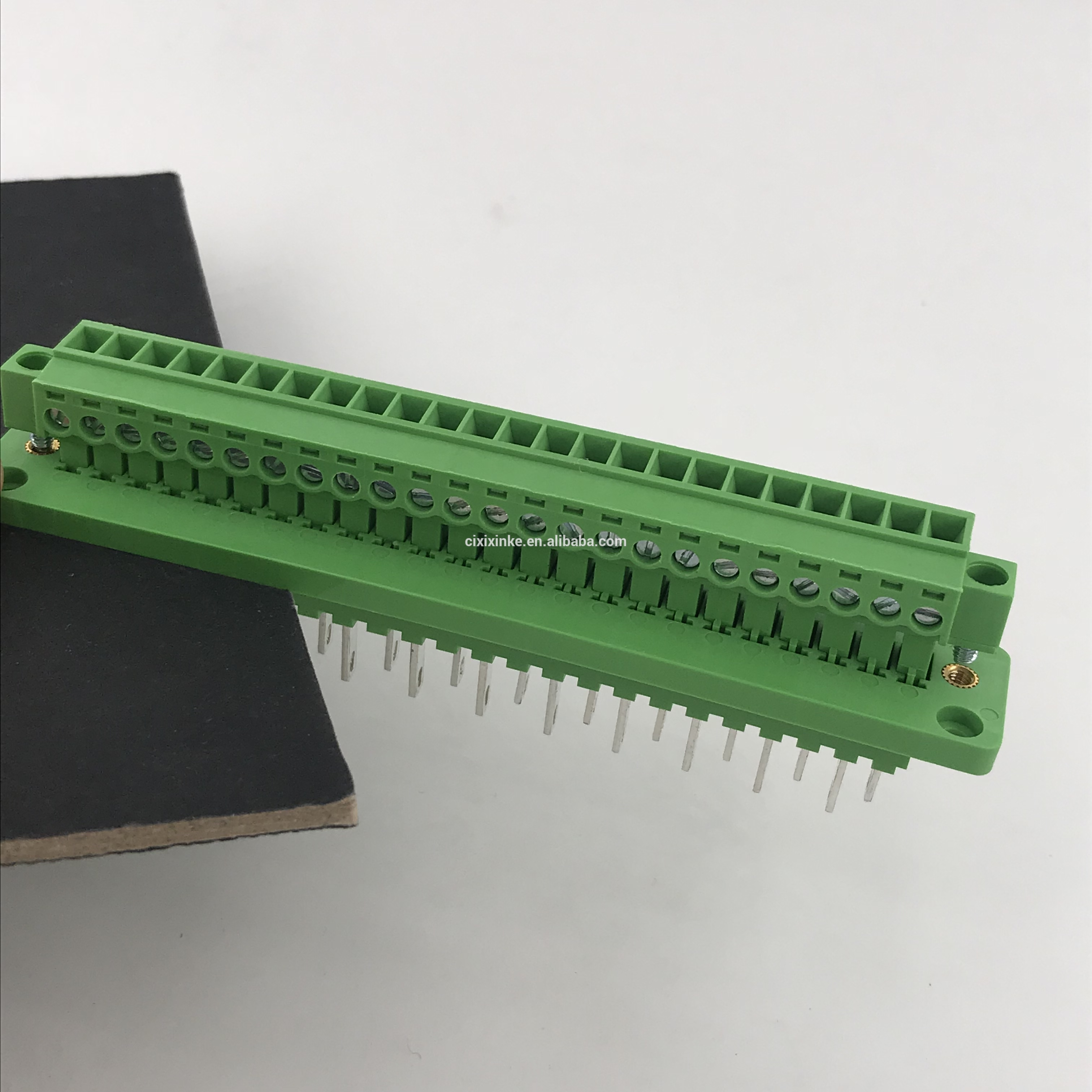 24 pin contact plug-in through wall terminal block