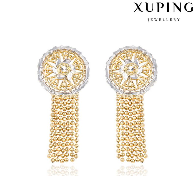 91305 Fashion Jewelry Simple Gold Earring Designs for Women in Multicolor-Plated