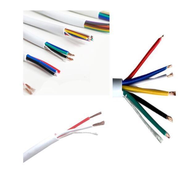 Round White Burglar Alarm Cable 6 Pair 12 Core PVC