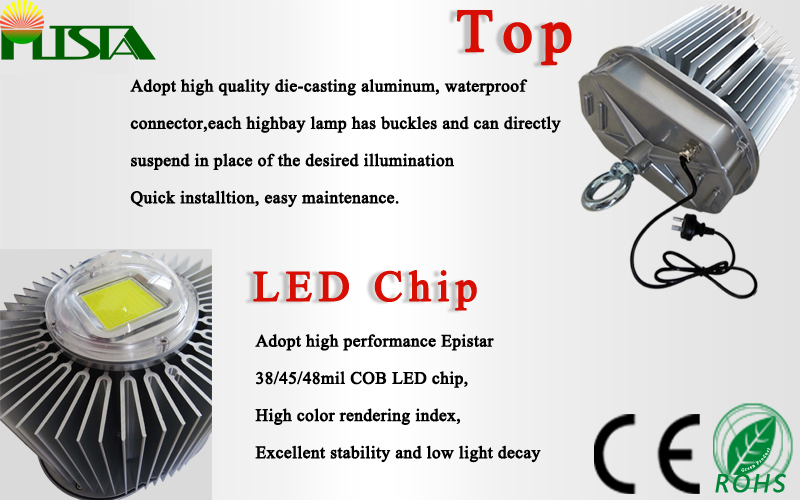 2016 New LED High Bay Lamp 150W 120lm/W Bridgelux Chip