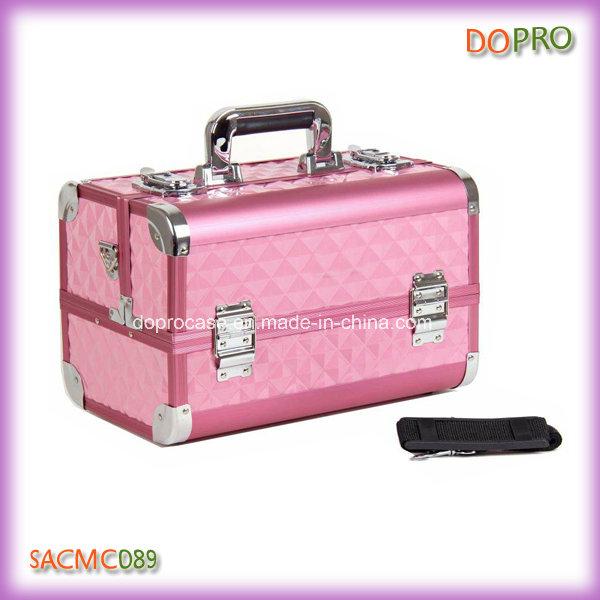 Pink Diamond ABS Surface Professional Aluminum Makeup Case (SACMC089)