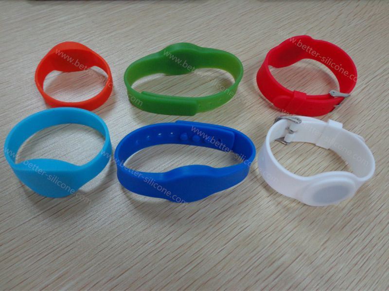 MIFARE Ultralight RFID Silicone Bracelet for Hospital