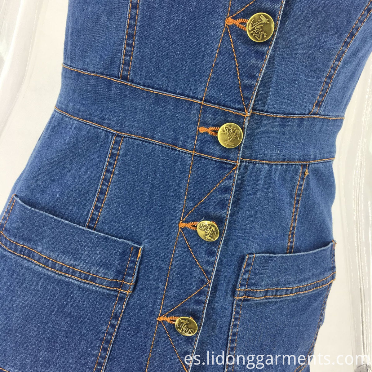 Jean Dresses with Buttons