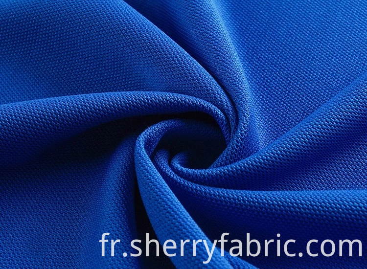 customized poly pique fabric