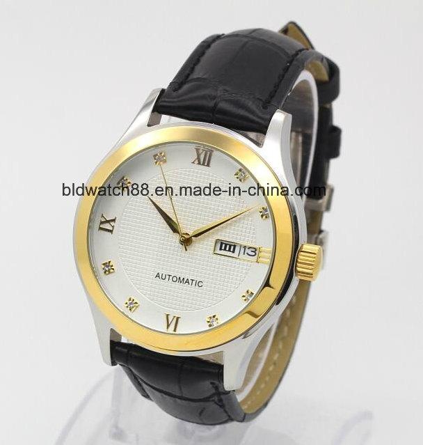 Promotion Japan Movement Leather Band Wrist Watch Men