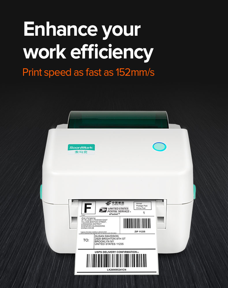 Direct thermal barcode label printer