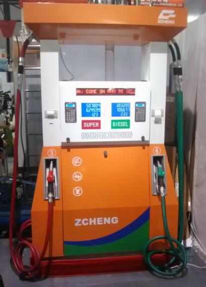 Zcheng Gas Station Creative Series Fuel Dispenser 4 Nozzle