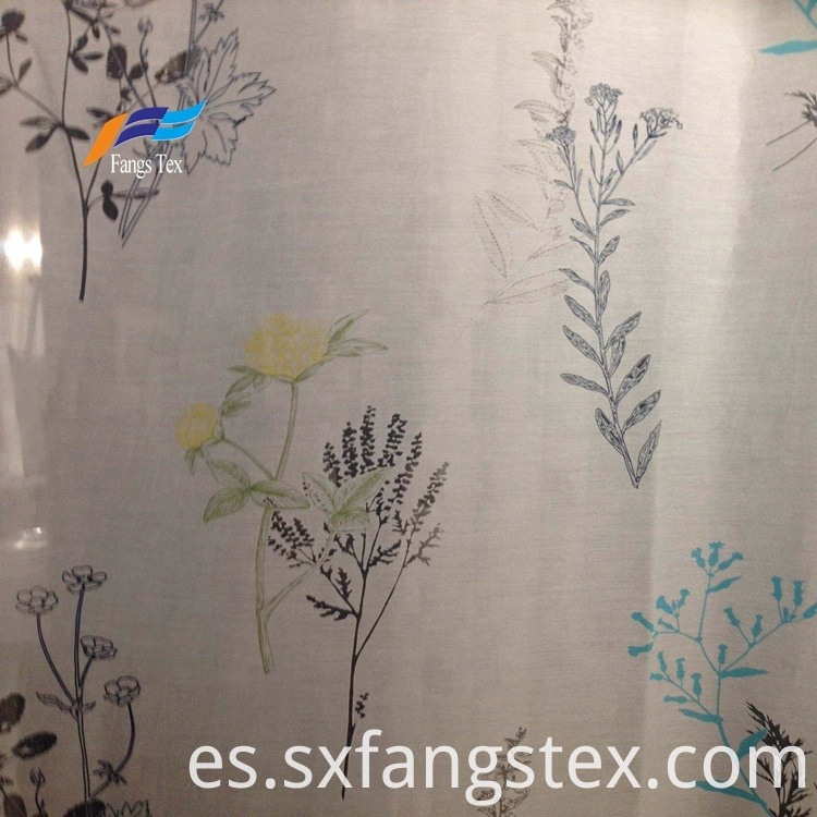 Polyester Sheer Printed Childre's Window Curtain Fabric 4