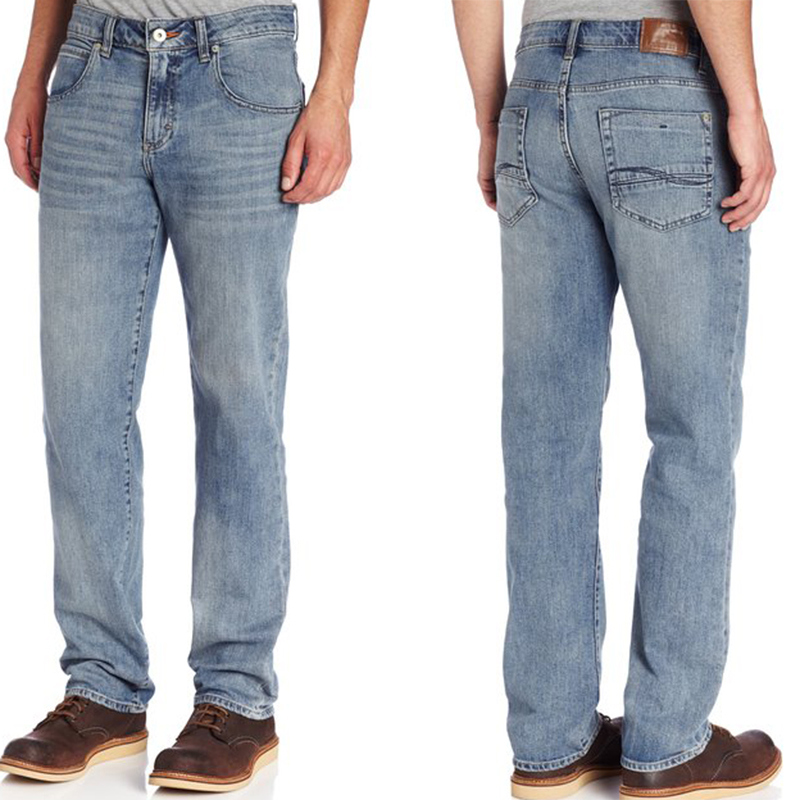 Men's Cotton Stretch Classic Basic Fashion Slim Fit Stone Wash Blue Denim Jean