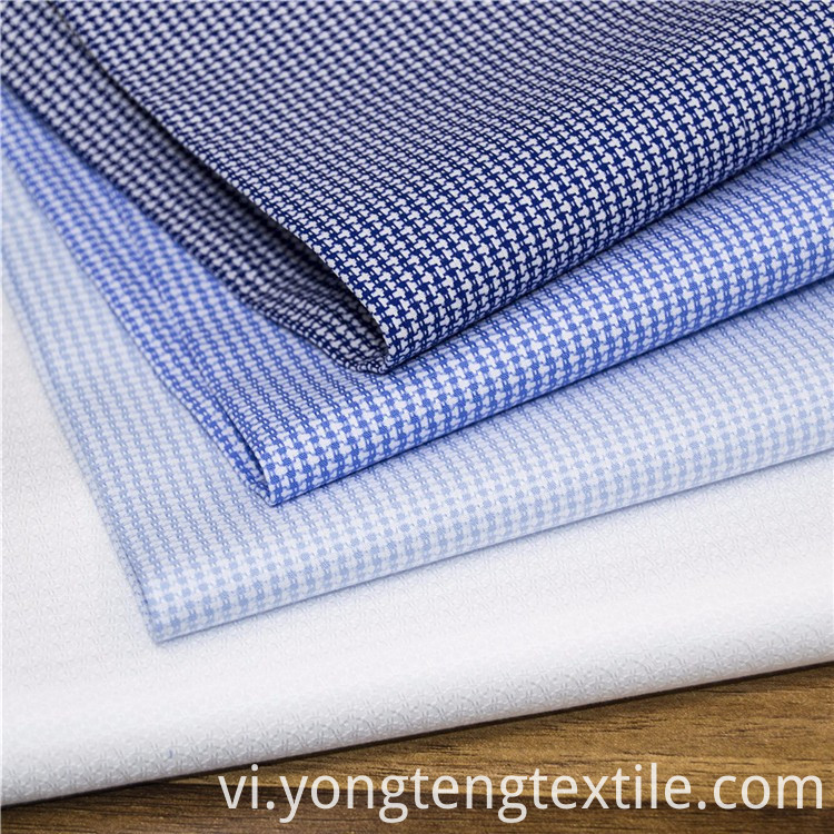cotton yarn dyed high end dress shirt fabric