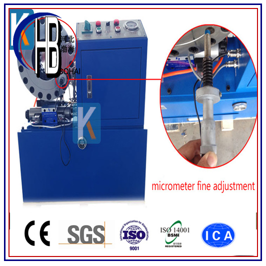 Best Quality Ce 1/4''~2''finn Power Hydraulic Hose Crimping Machine