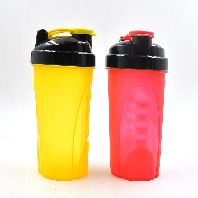 Newly-designed 600ml Plastic Protein Shaker Bottle with Stainless Steel Ball