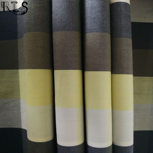 Cotton Poplin Woven Yarn Dyed Fabric for Garments Shirt Dress Rlsc60-3