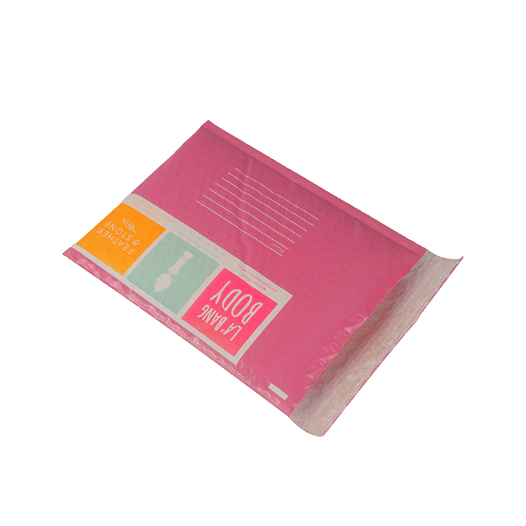 Pink poly bubble mailers