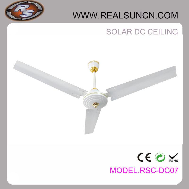 12V 48inch Solar DC Ceiling Fan Factory Direct Selling