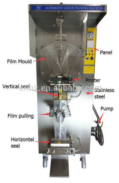 Factory Fostream Automatic Plastic Bag 500ml Water Filling Machine with 220V