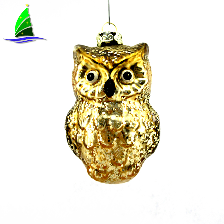 Owl Glass Ornament