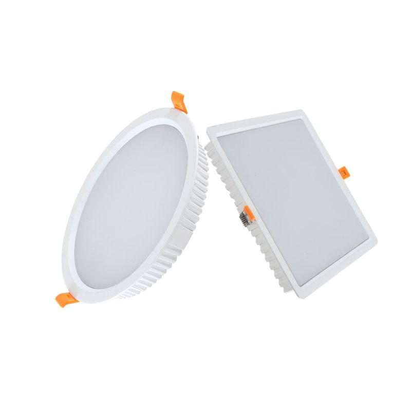 Super Slim 7W/15W/24W/30W/48W SMD Recessed Round/Square LED Ceiling Downlight