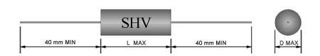 8 kV - 0,001 UF / 0,0015 UF / 0,0022 UF / 0,0033 UF / 0,0047 UF / 0,0056 UF / 0,0068 UF / 0,0082 UF Filmkondensator