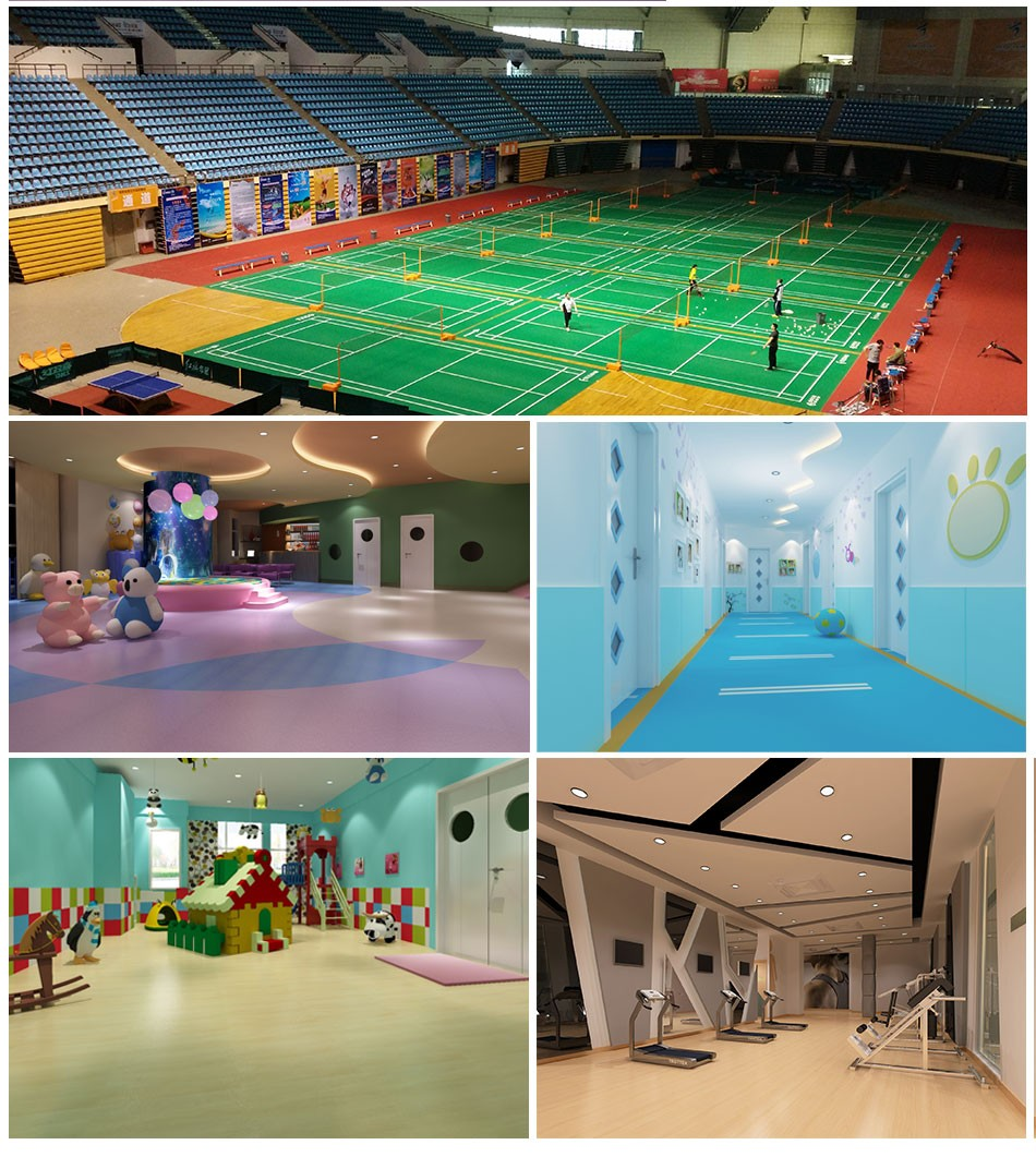 indoor vinyl badminton carpet