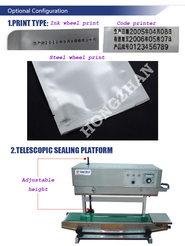 Direct Manufacturer Sale Delivery Wheel Sealing Machine Continue Sealer with Nitrogen Gas Filling and Vacuum Air Inspiration and Absorption