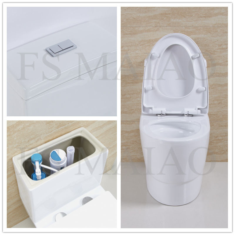 New Arrival Sanitary Wares Bathroom One Piece Siphonic Toilet Bowl (8112)