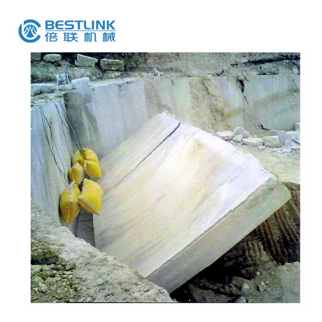 Stone Push Down Device Inflatable Polymer Bags for Quarrying