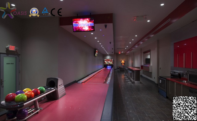 Reconditioned Bowling Alley with Neon Laser Lighting