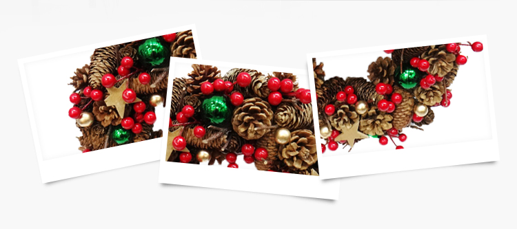 Dia. 35cm Factory Price Christmas Wreath for Party and Plastic Holiday Decoration