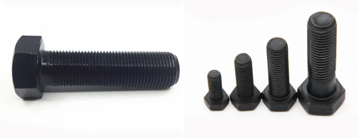 Hex bolts black oxide M12*50