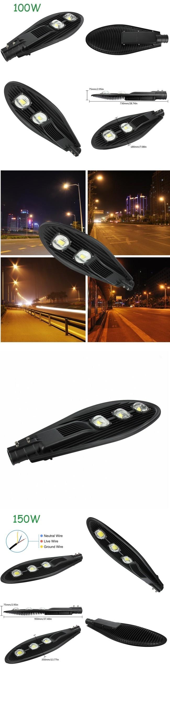 Meanwell Driver Bridgelux Epistar Chip 200W Street LED Light Outdoor Super Bright
