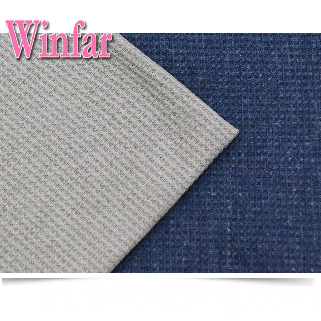 Pure Color Waffle Knit Fabric