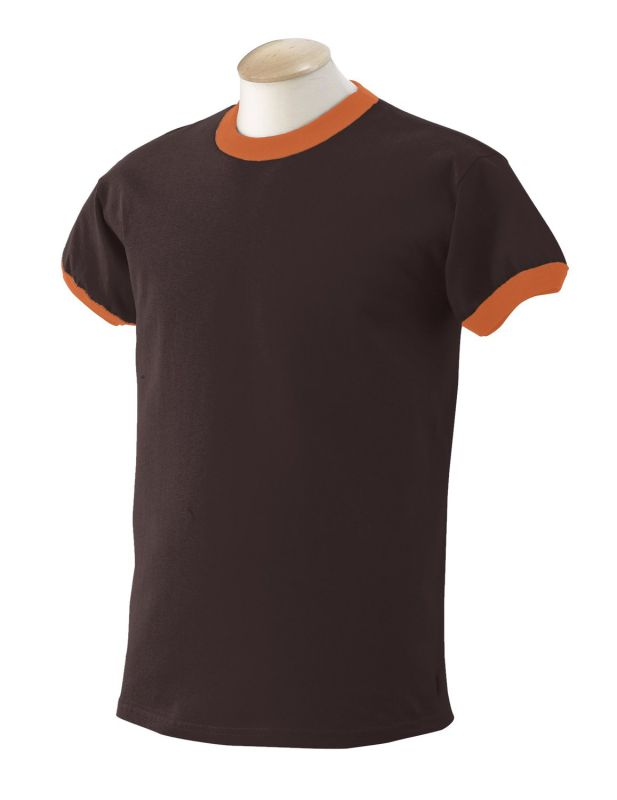 Bamboo Organic Cotton Composition Soft Men's Jersey Ringer T Shirt