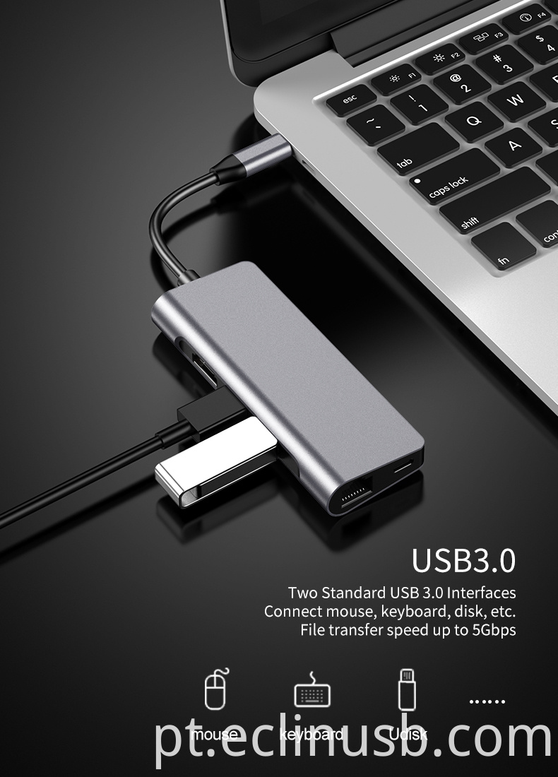 Usb Hub with Power Adapter