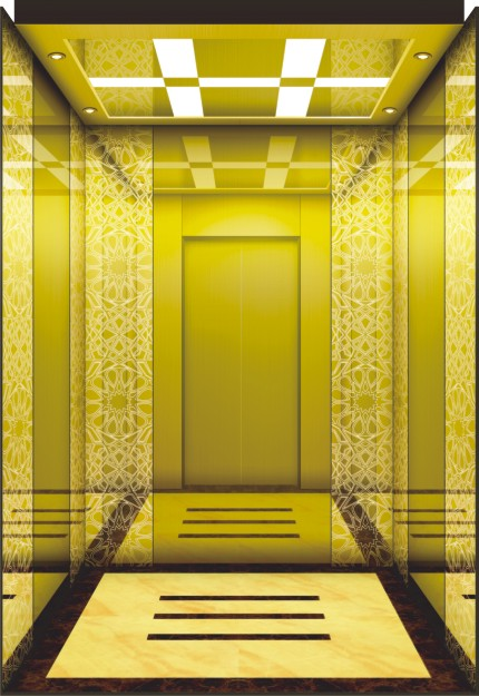 Commercial Hotel Gearless Passenger Elevator Without Lift Machine Room
