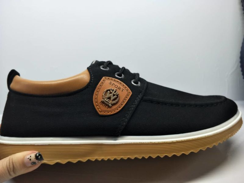 Export Stock Injection No MOQ Men Casual Suede Shoes