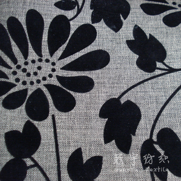 Decorative Polyester Linen Looks Fabric for Sofa