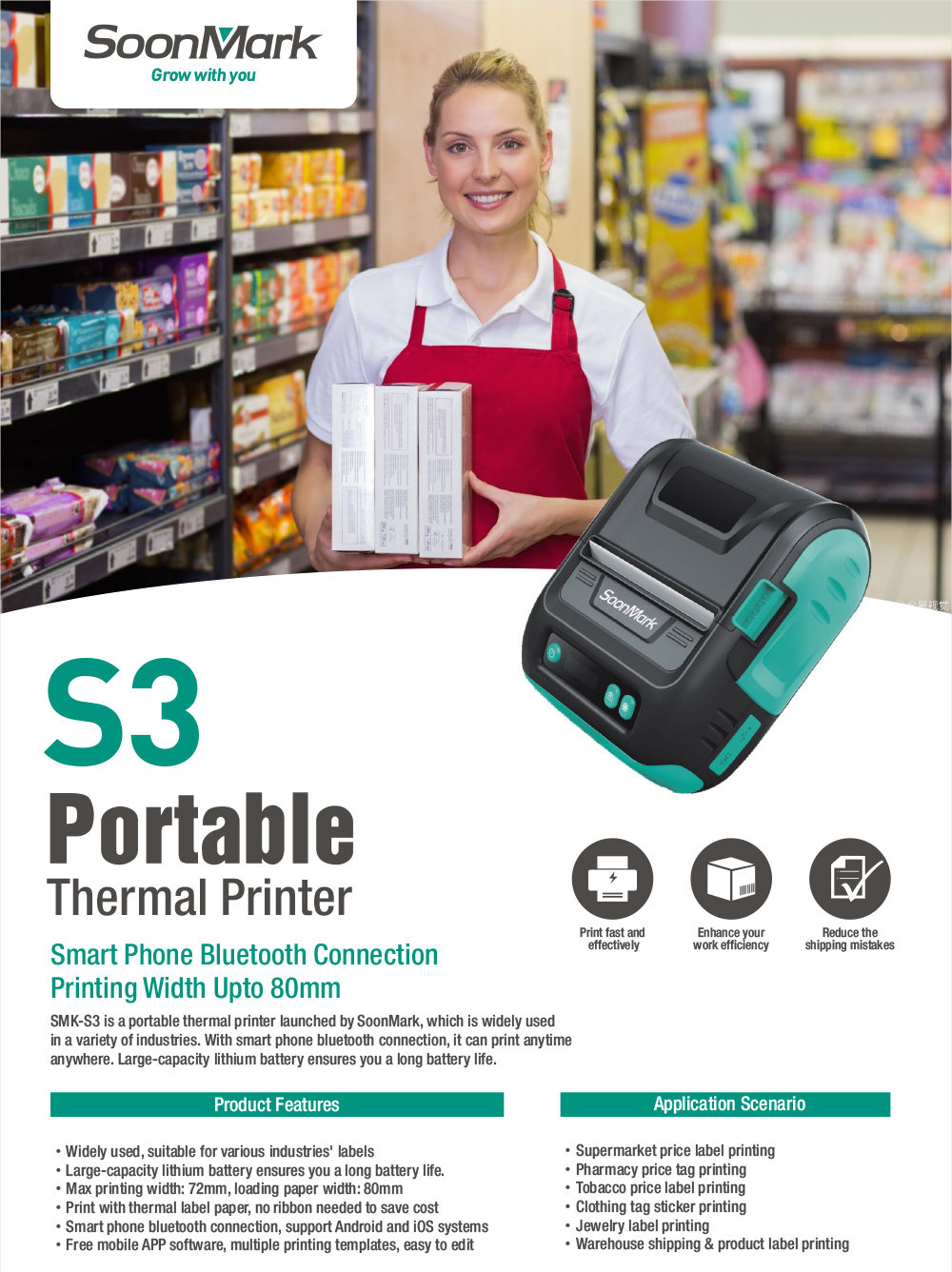 mobile bluetooth thermal receipt printer