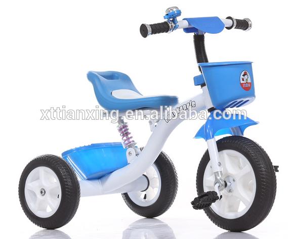 Flodable tricycle enfant sécurité Trainer Ride Sur Tricycle poussette Push Toy